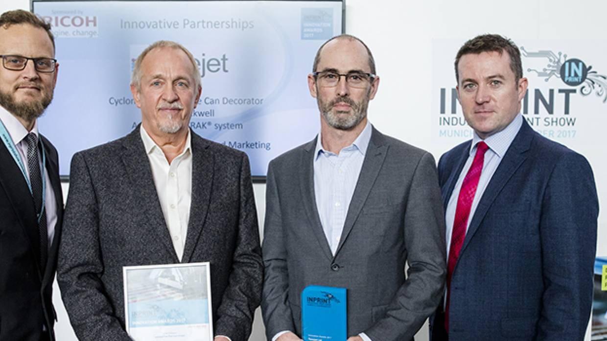 Tonejet and Rockwell Automation named winners at InPrint 2017 Innovation Awards